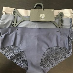 BLACK SZ L Details about  /NEW 3 PACK VINCE CAMUTO SMOOTH HIPSTER PANTIES BEIGE PINK
